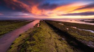 Bruno Soares Landscape Colorful Clouds Purple Sky Water Grass Nature Horizon 2048x1366 Wallpaper