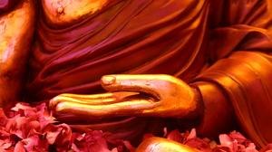 Buddha Statue Buddhism Nepal Hands Flowers Meditation 3072x2048 Wallpaper