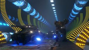 Quake 4 Tank Mech Science Fiction Futuristic Lights Liquid Video Game Art CGi Blender Nexus 3840x2160 Wallpaper