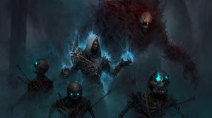Necromancer Diablo Iii Dark Skeleton Undead 1920x1280 wallpaper