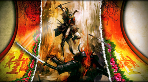 Warrior Weapon Armor Katana 2105x1080 wallpaper