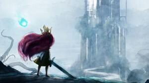 Drawing Sword Aurora Child Of Light 3840x2160 Wallpaper
