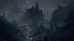 Artwork Fantasy Art Dark Night Castle 5000x3000 Wallpaper