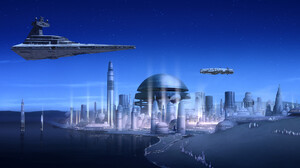 Star Wars Rebels Star Destroyer City Sci Fi 2048x1152 Wallpaper