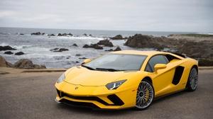 Car Lamborghini Lamborghini Aventador Lamborghini Aventador S Sport Car Supercar Vehicle Yellow Car 2560x1704 Wallpaper