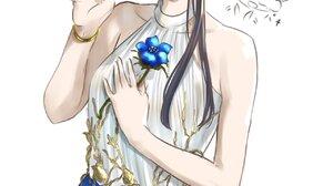 Komi San Wa Comyushou Desu Anime Girls School Uniform JK Long Hair Blue Skirt Kanji Komi Shouko 2D B 1280x2048 Wallpaper