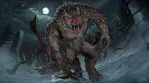 Creature Moon Night Werewolf 3840x2160 Wallpaper