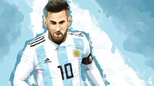 Argentinian Drawing Lionel Messi Soccer 4092x2893 Wallpaper