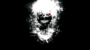 Boy Ken Kaneki Mask Red Eyes Teeth Tokyo Ghoul White Hair 1920x1080 Wallpaper