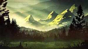 Forest Landscape Mountain Nature 1920x1080 wallpaper