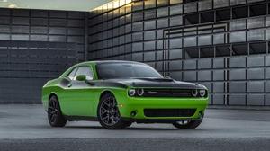 Car Dodge Dodge Challenger Green Car Muscle Car Vehicle 3000x2000 Wallpaper