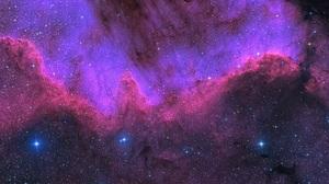 Purple Sky Sky Space Nebula Galaxy Milky Way Stars Universe 8087x2976 Wallpaper