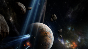 Asteroid Meteor Planet Sci Fi Space 3200x2400 wallpaper