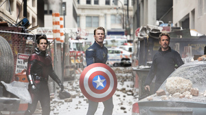 Ant Man Avengers Endgame Captain America Chris Evans Iron Man Paul Rudd Robert Downey Jr Scott Lang  3000x1688 Wallpaper