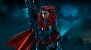 Batwoman Dc Comics Kathy Kane Red Hair Ruby Rose Weapon 2000x1125 wallpaper