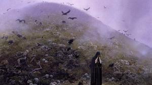 Fantasy Art Bones Skeleton Crow Raven 1600x1080 Wallpaper