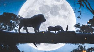 The Lion King Digital Art Moon Night 1920x1080 wallpaper