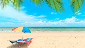 Beach Outdoors Sky Horizon 2560x1707 Wallpaper