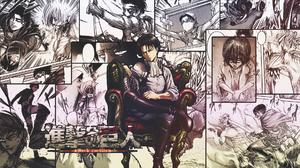 Shingeki No Kyojin Levi Ackerman Collage Comics Manga Speech Bubble Throne Frontal View 1920x1080 Wallpaper
