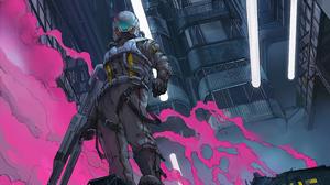 Futuristic Warrior Weapon 4200x2362 wallpaper