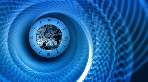 Blue Clock Fractal 4365x2734 Wallpaper