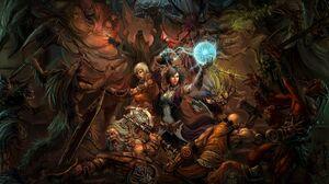 Barbarian Diablo Iii Diablo Iii Monk Diablo Iii Witch Doctor Diablo Iii Wizard Diablo Iii 2560x1415 Wallpaper