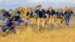 Spanish American War Teddy Roosevelt War Men Soldier Artwork 1500x1081 Wallpaper