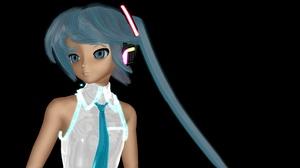 Hatsune Miku Blue Hair Blue Eyes 3840x2160 wallpaper