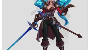 Wu Shenyou ArtStation Artwork Fantasy Art Pirates Fantasy Girl Simple Background Girls With Swords E 2000x2596 Wallpaper