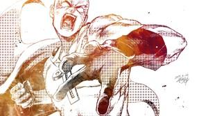 Saitama One Punch Man 8512x6029 wallpaper