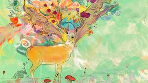 Animal Artistic Deer 2560x1440 Wallpaper