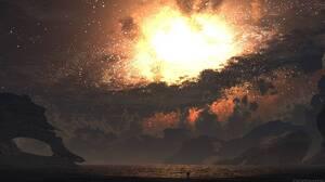 Sci Fi Supernova 5760x1080 Wallpaper