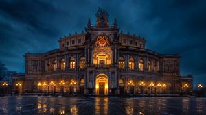 Light Dresden Germany Night 2400x1720 Wallpaper