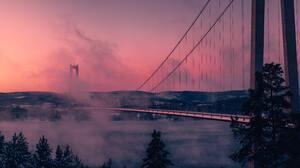 Pink Pink Background Clouds Golden Gate Bridge San Francisco 4738x3159 Wallpaper
