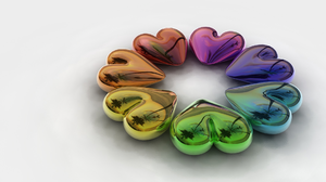 Artistic Colorful Heart Reflection 1920x1200 Wallpaper