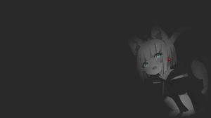 Anime Manga Anime Girls Fan Art Illustration Original Characters Neko Ears Yokai Nekomimi Minimalism 1920x1080 Wallpaper