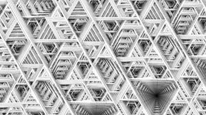 Digital Art Fractal Texture Labyrinth Abstract 1920x1080 Wallpaper