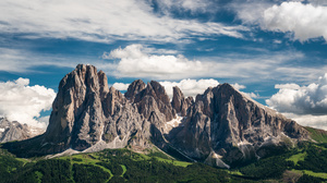 Nature Landscape Mountains Italy Alps Dolomite Alps Clouds 3000x1688 Wallpaper