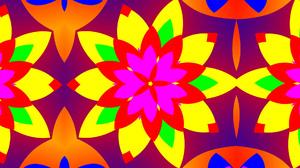 Abstract Colors Digital Art Flower Kaleidoscope Pattern 1920x1080 Wallpaper