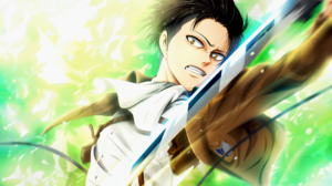 Attack On Titan Black Hair Levi Ackerman Shingeki No Kyojin Weapon Yellow Eyes 2200x1536 Wallpaper