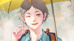 Koushi Sugawara Haikyuu Haikyuu Anime Anime Boys Grey Hair 1332x850 wallpaper