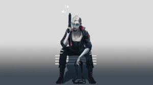 Women Side Shave Punk Cyberpunk Glasses Jacket Gun Weapon Girls With Guns Cyborg Science Fiction Sit 3031x1705 Wallpaper