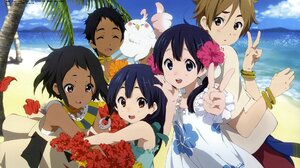 Tamako Market Anime Girls Anime Outdoors Anime Boys Beach Looking At Viewer 1920x1356 Wallpaper