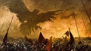 Eagle Battle 2093x1080 Wallpaper
