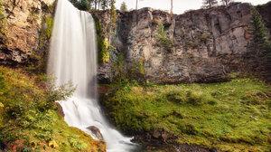 Nature Landscape Waterfall Grass Rocks Moss 1920x1080 Wallpaper