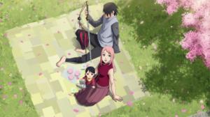 Sakura Haruno Sarada Uchiha Sasuke Uchiha 2100x1416 Wallpaper