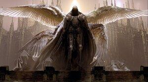 Artwork Espen Olsen Satervik Knight Wings Warrior Digital Painting Armour Armor 4096x2435 Wallpaper