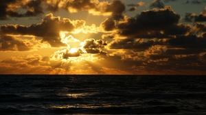 Nature Horizon Cloud Sunbeam 3840x2400 Wallpaper