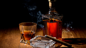 Alcohol Bottle Cigar Drink Glass Whisky 6180x4482 Wallpaper