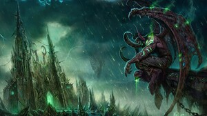 World Of Warcraft The Burning Crusade Illidan Stormrage Video Games 2560x1440 Wallpaper